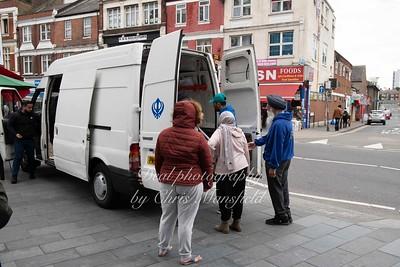 6,36pm  the van arrives