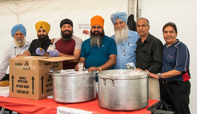 June 24th 2017 armed forces day Sikh Langar kitchen