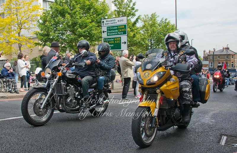 bikers pay their respect