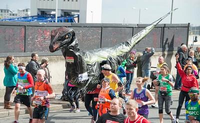 Ian Bates in Dinosaur costume