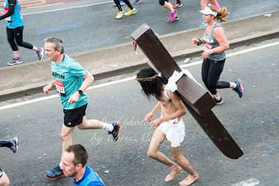 Jesus........  and he was running barefoot too !!