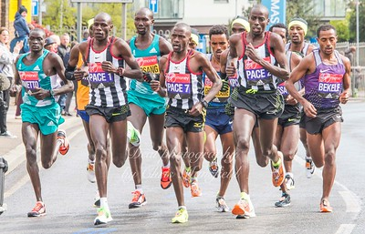 Group of elite mens runners