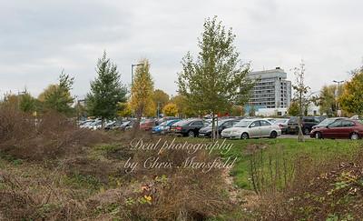 Nov' 4th 2016.  Q E Hospital and car park