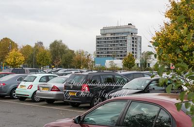 Nov' 4th 2016.  Queen Elizabeth hospital and car park