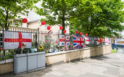 May 20th 2017.  Lee Rigby Memorial site after flags had been replaced