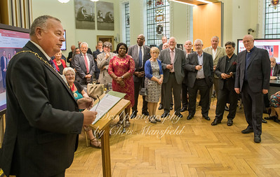 """May 24th 2018.  Mayor Peter Brooks speaks at his """"Leaving do"""""""