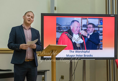 May 24th 2018.   Council leader Danny Thorpe ...  The picture on the screen is one that I took earlier in the year
