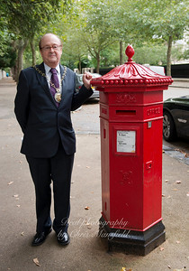 Sept' 5th 2015..  Norman and the letter box