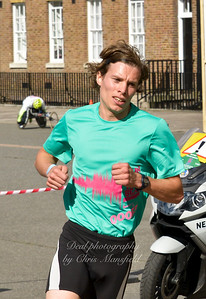 The lead runner at the artillery barracks