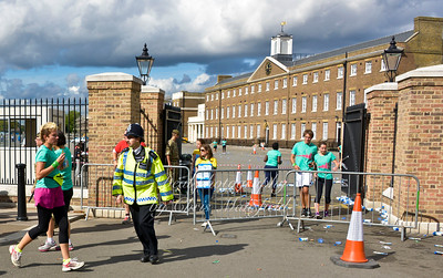 Parade ground closed off to stop the congestion