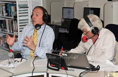 Lib Dem MP Simon Hughes with radio presenter Peter Allen