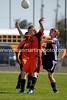 Trevor Falana heads the ball
