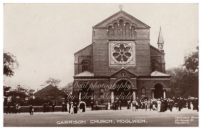 Early postcard, Garrison church