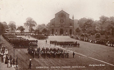 Early postcard.  Church parade
