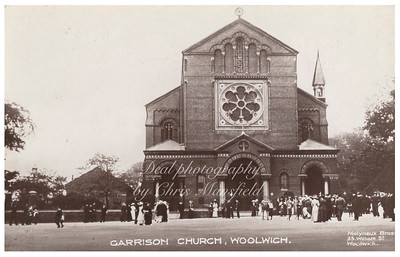 Early 1900s postcard of the Garrison church