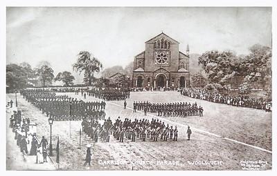 old postcard garrison church