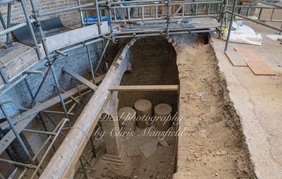 Nov' 2nd 2018.  Looking down into the crypt .. New floor will be laid in a few weeks time