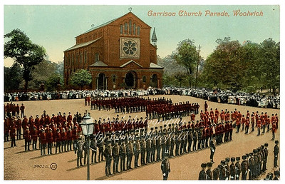 Early postcard, Church parade