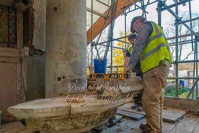 Nov' 14th 2018.  Rebuilding the remains of the Pulpit