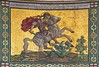 Victoria cross memorial mosaic depicting St George & the dragon was not installed in the church until 1920