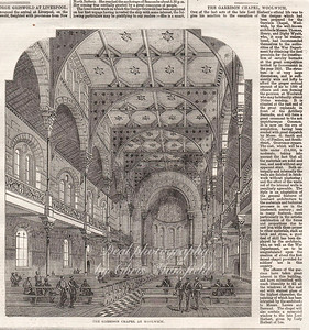 Artist impression and written article about the garrison chapel