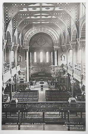 Early postcard church interior