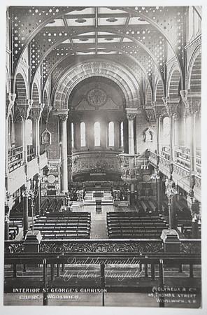 Early postcard church interior