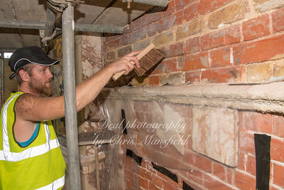 Aug' 23rd 2018.  cleaning the brickwork