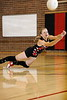 Kendra Miller dives for a bump