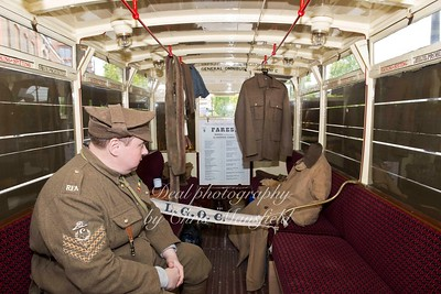 Sgt Hurley chats to the invisible man on the battle bus