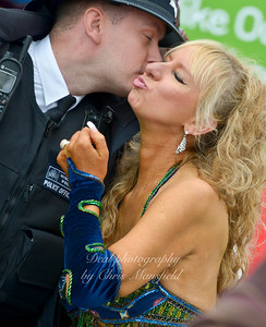 Police and belly dancer