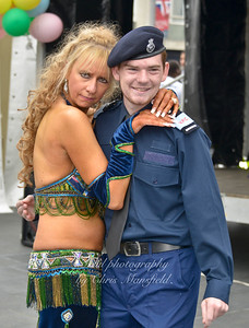 Belly dancer and police cadet