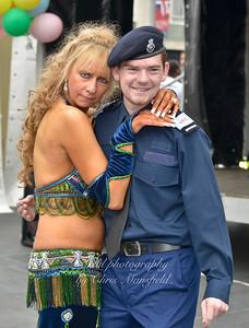 Belly dancer and police cadet
