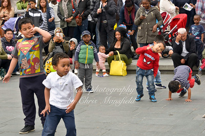 Kids join in the dancing