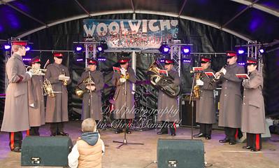Royal artillery band play Carols