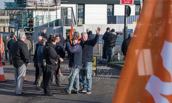 Feb 3rd 2017  woolwich ferry strike Mansfield 09
