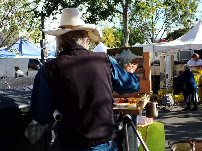 Artist at Farmers Market