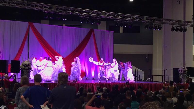 Columbian dancers