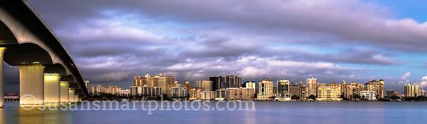 Sarasota's Bayfront at Dusk