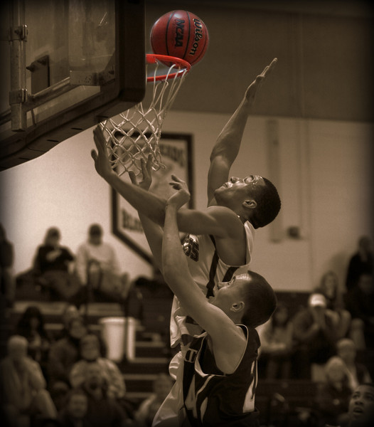 Playing above the rim.