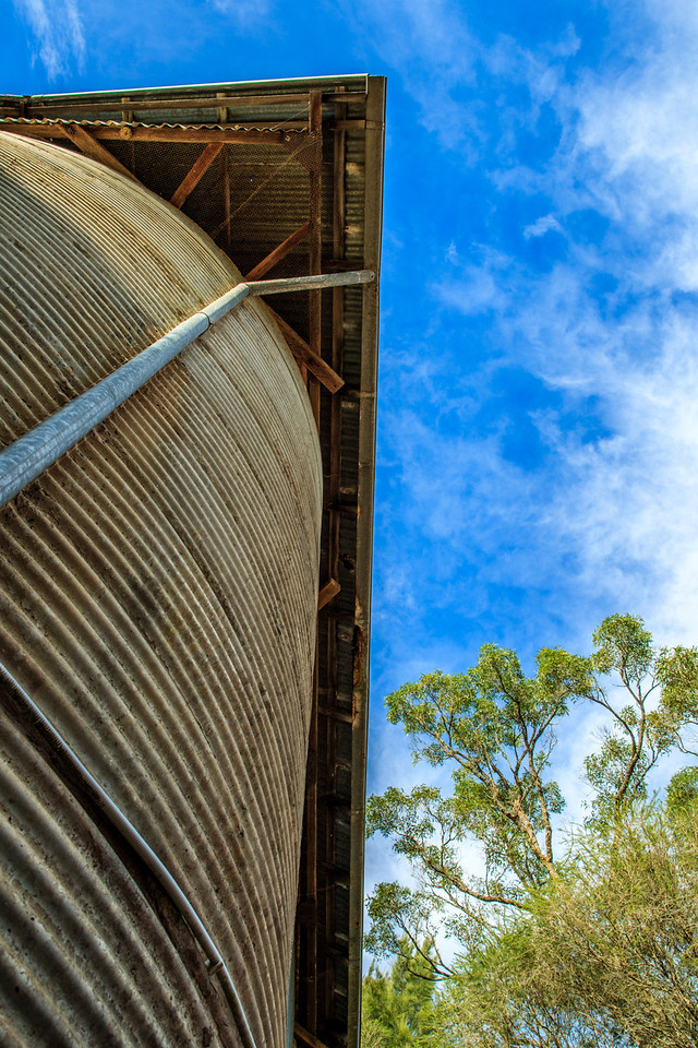 Cattai National Park, Australia<br /> Part of a 1930s  dairy and grain silo complex.