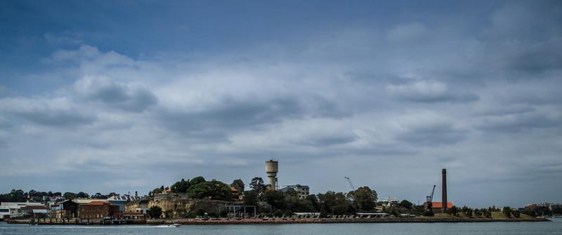 Sydney, Australia<br /> Cockatoo Island, seen from Woolwich.