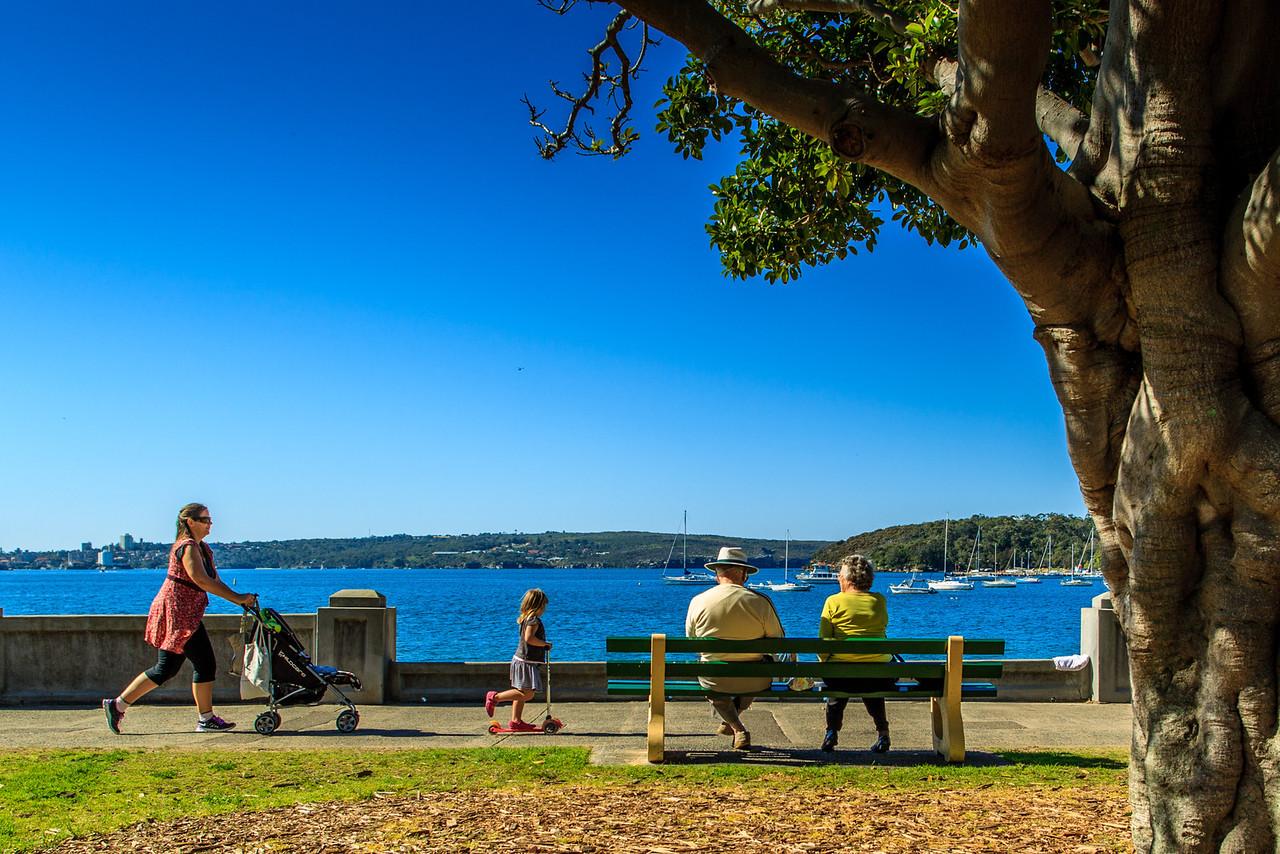 Balmoral, Sydney, NSW, Australia<br /> The Esplanade, beside Hunter Beach.