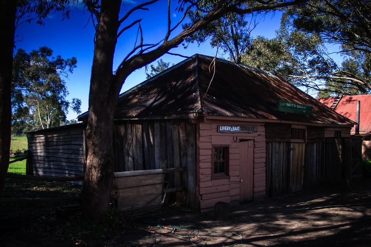 Australiana Pioneer Village, Wilberforce<br /> Stables of the Blackhorse Inn, 1819.