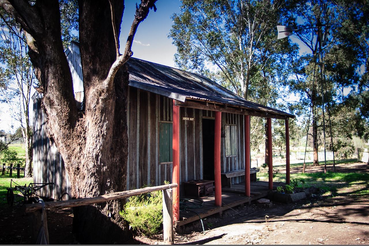 Australiana Pioneer Village, Wilberforce<br /> Aiken Hut.