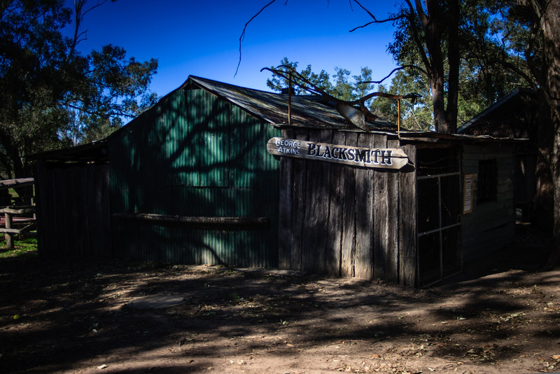 Australiana Pioneer Village, Wilberforce<br /> George Atkin's Blacksmith's Shop, 1862.