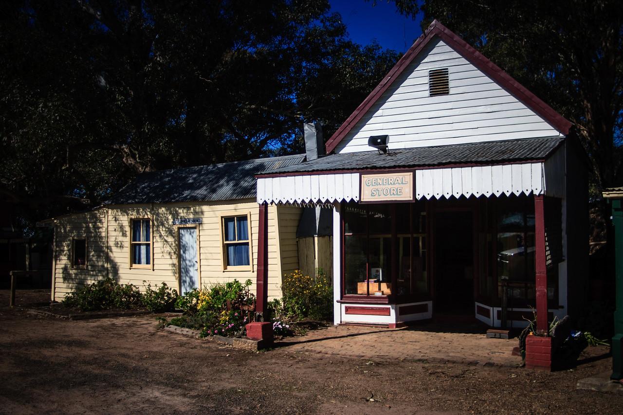 Australiana Pioneer Village, Wilberforce<br /> Riverstone General Store, 1860.