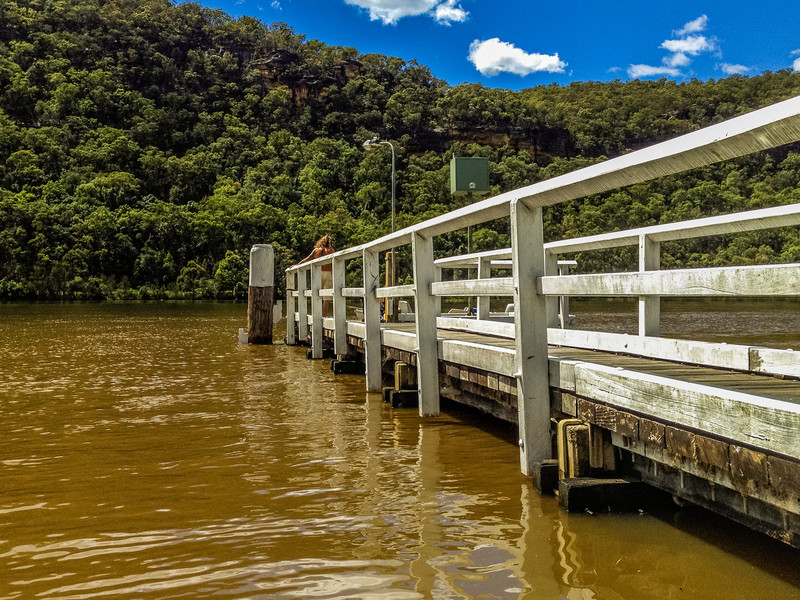 Wiseman's Ferry, Sydney, NSW, Australia<br /> The Public Wharf on the Hawkesbury River, near the Convict Road Kiosk.