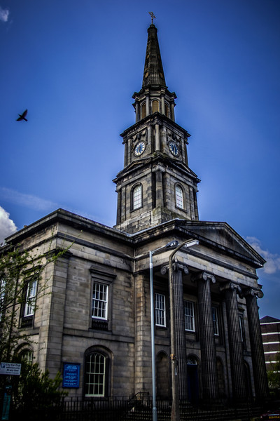 North Leith Parish Church. Designed by architect William Burn and completed in 1816.