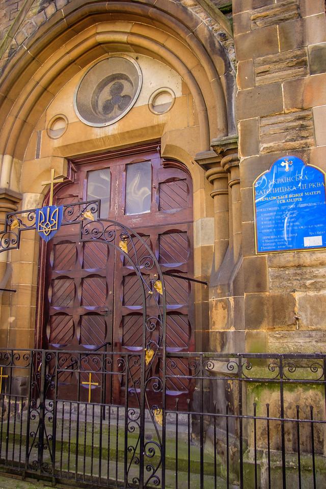 Leith, Scotland<br /> St Andrew's Ukrainian Catholic Church. Built for the United Presbyterian church around 1880.